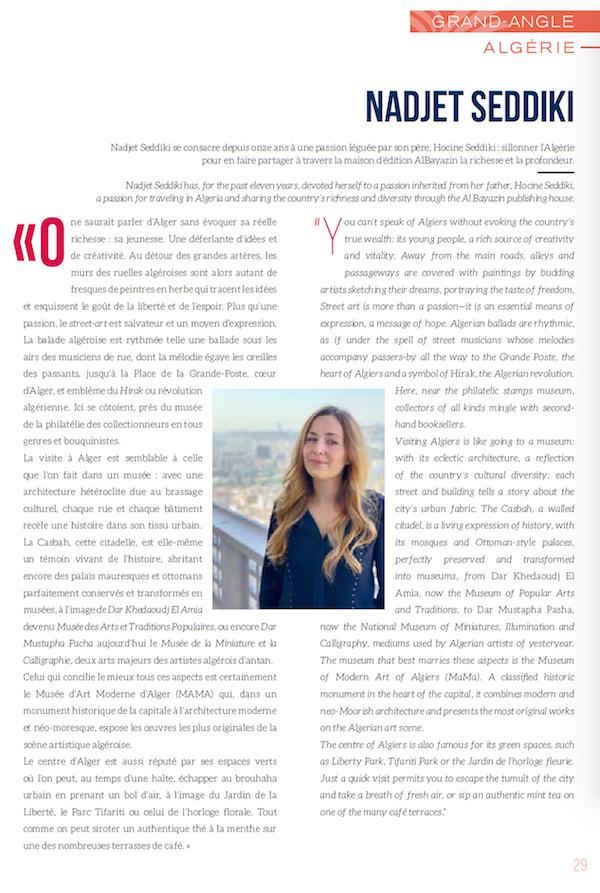 Contribution d'AlBayazin pour le magazine de bord d'Aigle Azur dans le cahier spécial Algérie